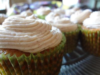 Zucchini Cake Cupcakes w/ Honey Cinnamon Frosting